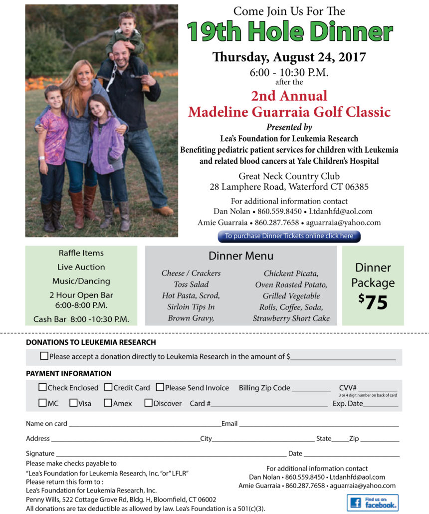 Lea's Foundation for Leukemia Research, Inc  | 2nd Annual